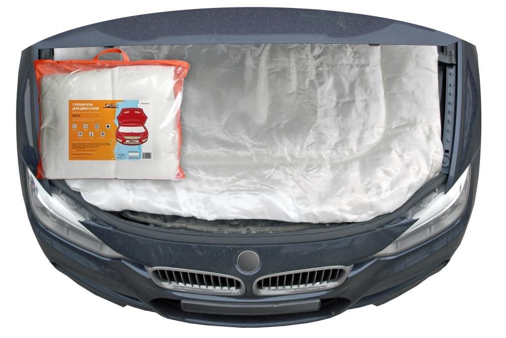 Утеплитель для двигателя, стеклоткань, цвет белый, 130*90см