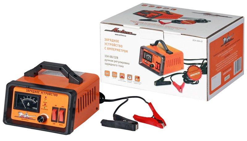 Зарядное устройство 0-10А 6В/12В, амперметр, ручная регулировка зарядного тока, импульсное