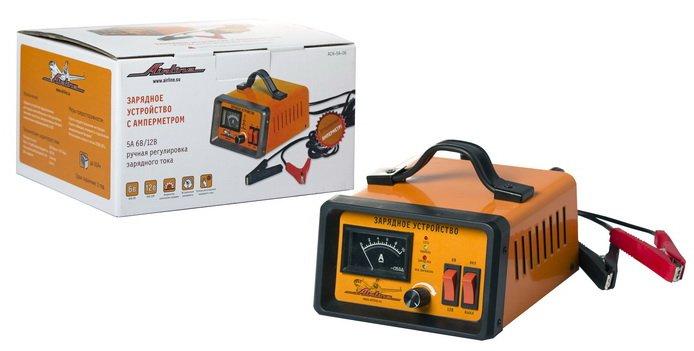 Зарядное устройство 5А 6В/12В, амперметр, ручная регулировка зарядного тока
