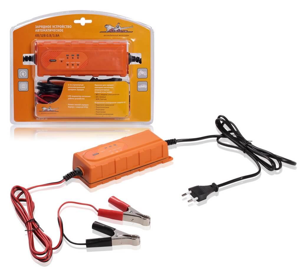 Зарядное устройство 0,8/3,8А 6В/12В, автоматическое, электронное
