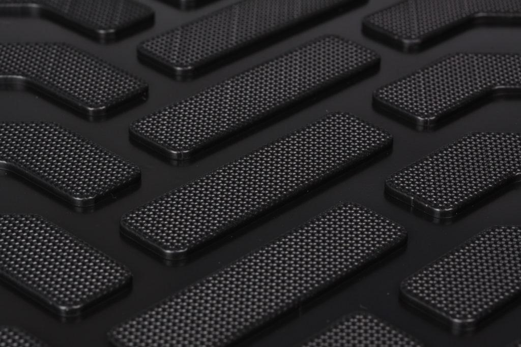 Ковры в салон (3D с подпятником) Ford Kuga (2013-) компл. 4 шт., высокий борт, полимерные, черные ACM-PS-30