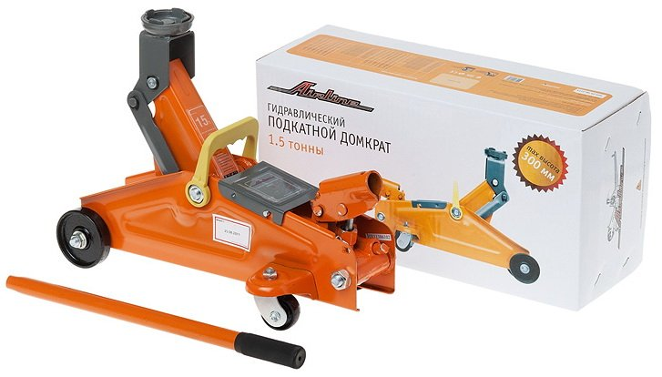 Домкрат подкатной 1.5т (MIN - 140 мм, MAX - 300 мм)