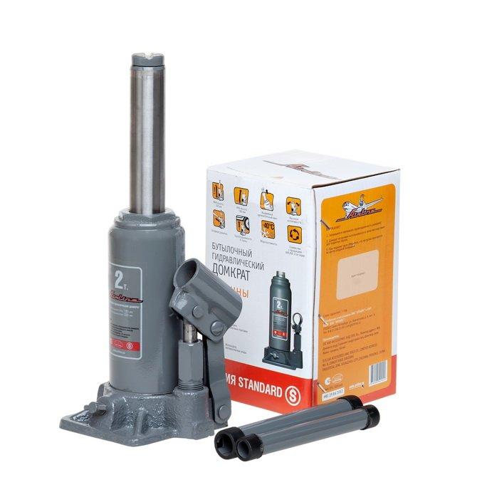 Домкрат бутылочный Standard 2т (MIN - 150мм/MAX - 285мм)  AJ-B-02S