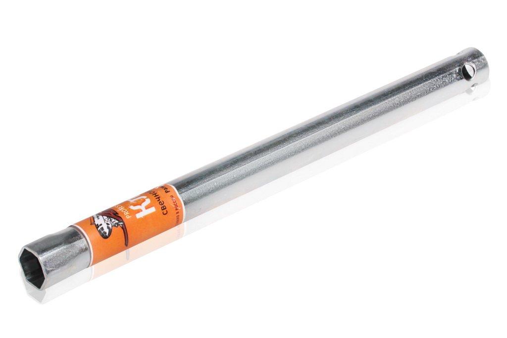 Ключ свечной трубчатый 16*270мм с резиновой вставкой