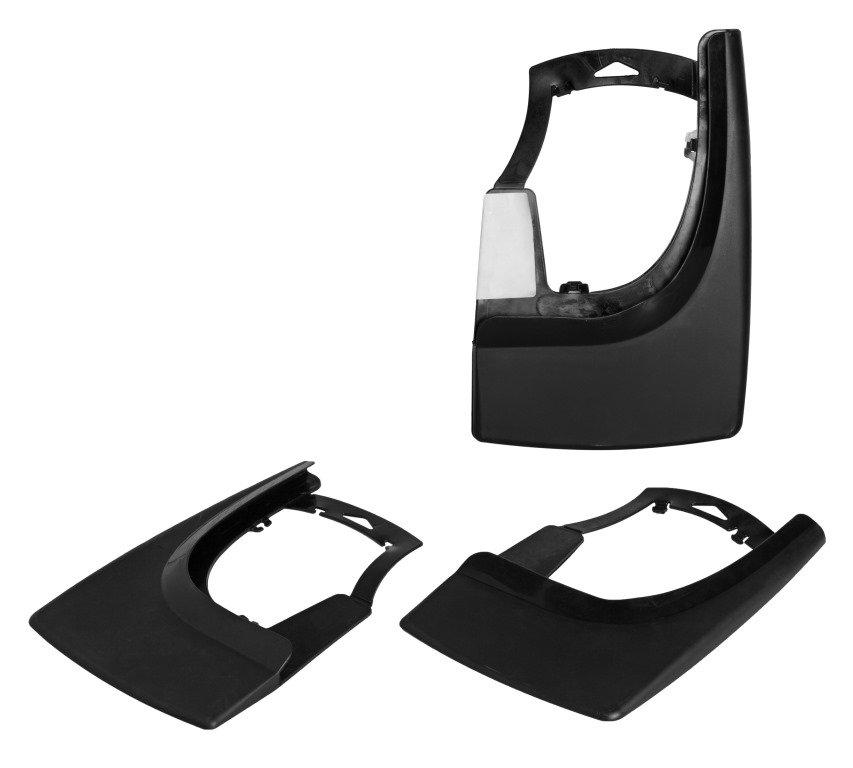 Брызговики универсальные для легковых автомобилей, черные, 2шт.