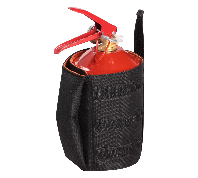 Чехол-фиксатор для огнетушителя (ОП-1-ОП-5), автомобильный, полиэстер, черн./оранж. AO-HE-25