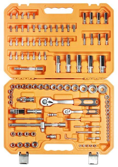 Набор инструментов универсальный 109 предметов + фонарь, пласт.кейс