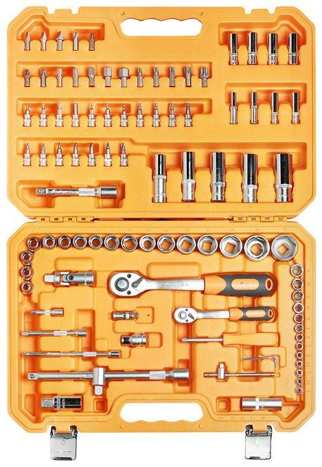 Набор инструментов универсальный 94 предмета + фонарь, пласт.кейс