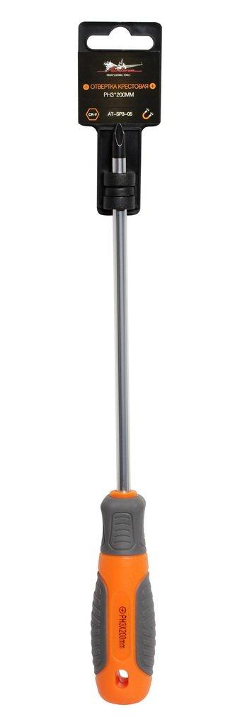 Отвертка крестовая с эргономичной рукояткой PH3*200мм