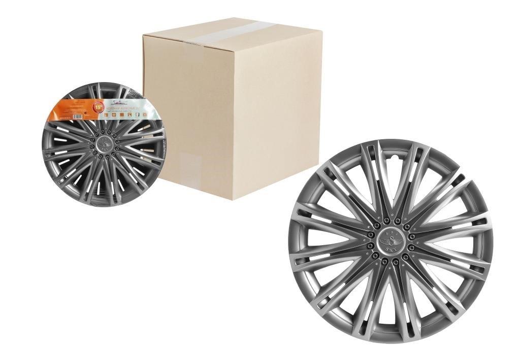 Колпаки колесные 15 Скай, серебристый, компл. 2 шт.