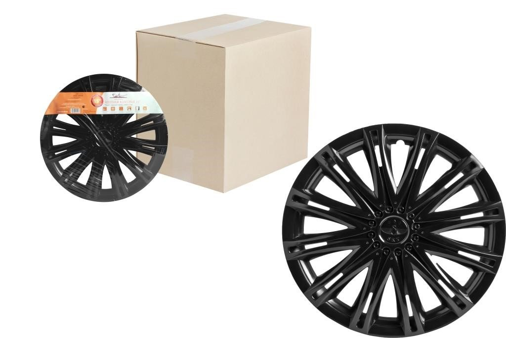 Колпаки колесные 15 Скай черный глянец, компл. 2 шт.