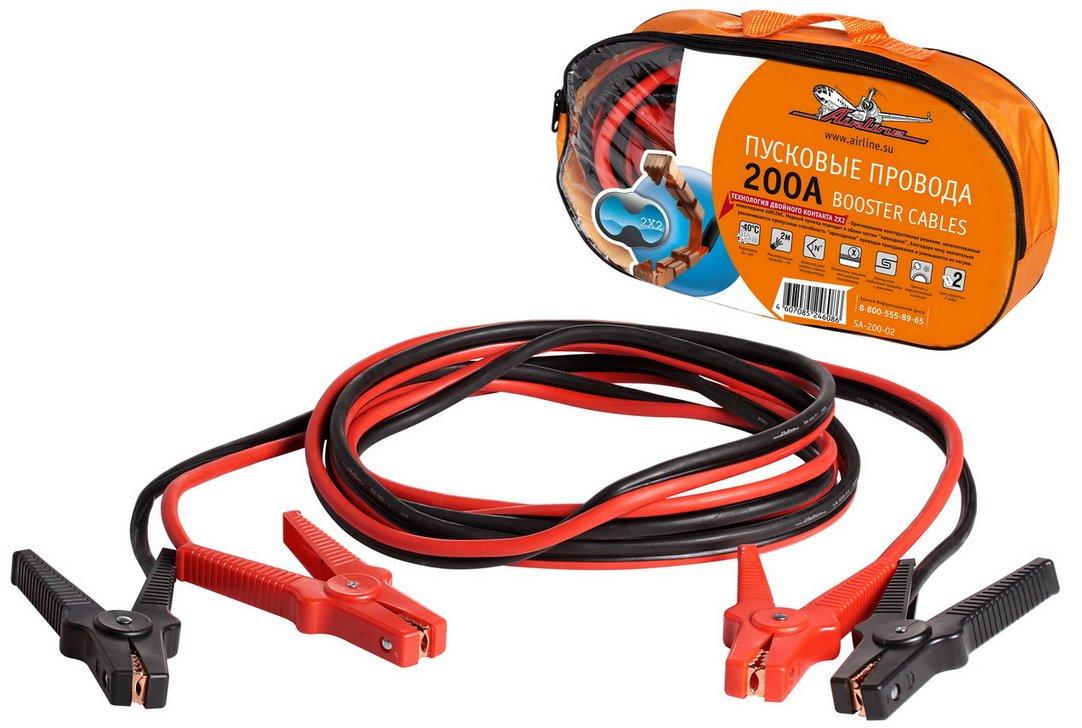 Провода прикуривания 200А в сумке (2м, 12В)