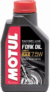 Вилочное масло MOTUL Fork Oil Factory Line Light/Medium 7.5W